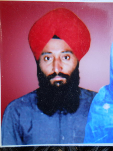 Photo of Gurcharan Singh, victim of extrajudicial execution on January 06, 1992, in Valtoha,  by Punjab Police; Central Reserve Police Force, in Valtoha, Bhikhiwind, by Punjab Police