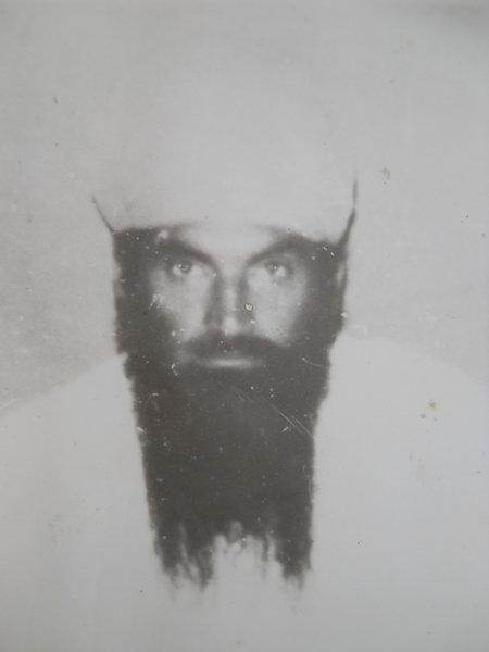 Photo of Gurcharan Singh, victim of extrajudicial execution on November 15, 1989, in Bhikhiwind, Khemkaran, Patti, by Punjab Police; Central Reserve Police Force