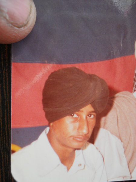 Photo of Mangat Singh, victim of extrajudicial execution between April 1, 1991 and May 30,  1991, in Bhikhiwind, by Punjab Police
