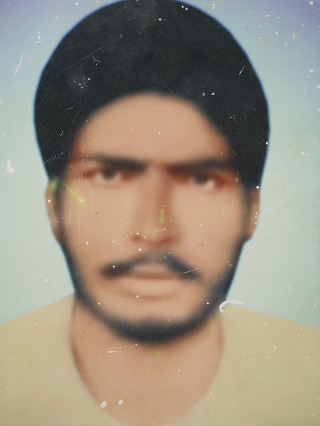 Photo of Sukhdev Singh, victim of extrajudicial execution on September 10, 1991, in Bhikhiwind, by Punjab Police