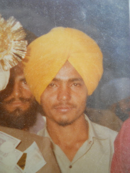 Photo of Kuldeep Singh, victim of extrajudicial execution between August 1, 1989 and August 21,  1989, in Khalra, by Punjab Police