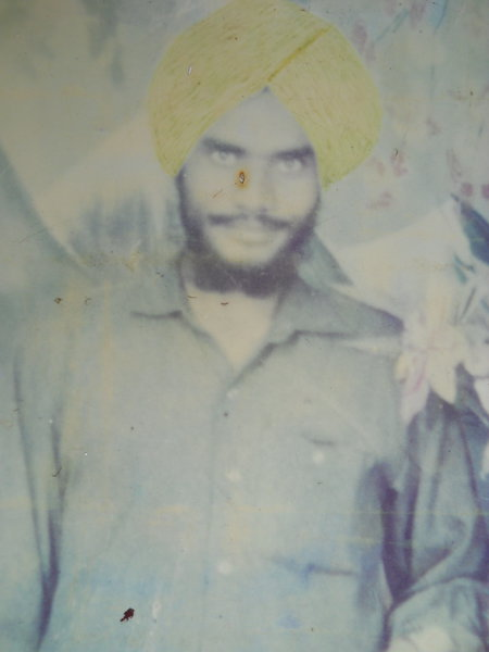 Photo of Jagtar Singh, victim of extrajudicial execution on October 6, 1991, in Patti, by Punjab Police