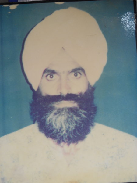 Photo of Sukhwant Singh, victim of extrajudicial execution on February 05, 1993, in Patti, by Punjab Police