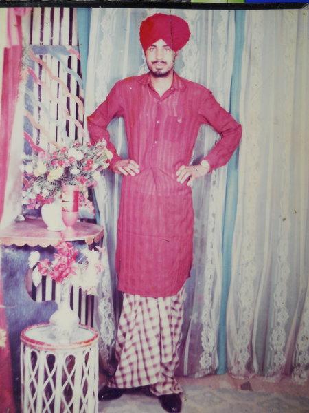 Photo of Harbans Singh, victim of extrajudicial execution on April 14, 1993, in Tarn Taran, by Punjab Police