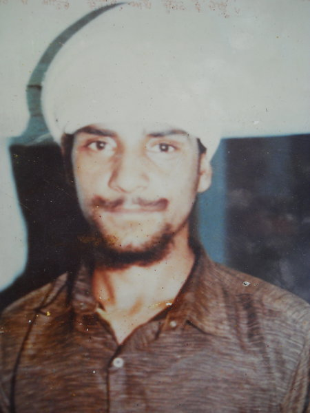 Photo of Bageecha Singh, victim of extrajudicial execution on January 13, 1993, in Valtoha, by Punjab Police