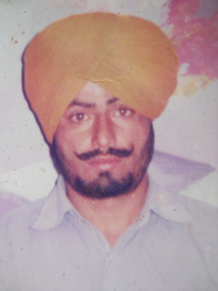 Photo of Jetha Singh, victim of extrajudicial execution on September 13, 1989, in Bhikhiwind, by Punjab Police