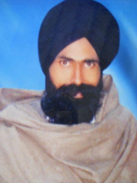 Photo of Inderjit Singh, victim of extrajudicial execution on January 15, 1993, in Rajpura, by Punjab Police