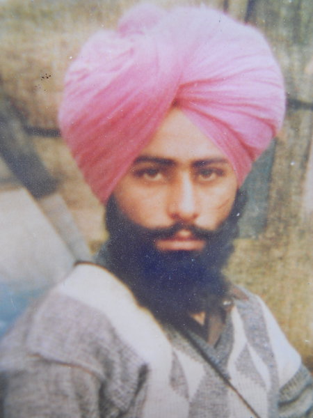 Photo of Jarnail Singh, victim of extrajudicial execution on October 29, 1991, in Amritsar, by Punjab Police