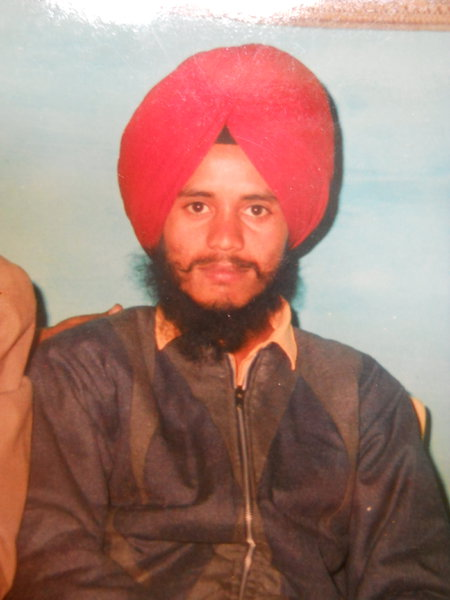Photo of Kawaljit Singh, victim of extrajudicial execution on August 23, 1988, in Bhikhiwind, by Punjab Police