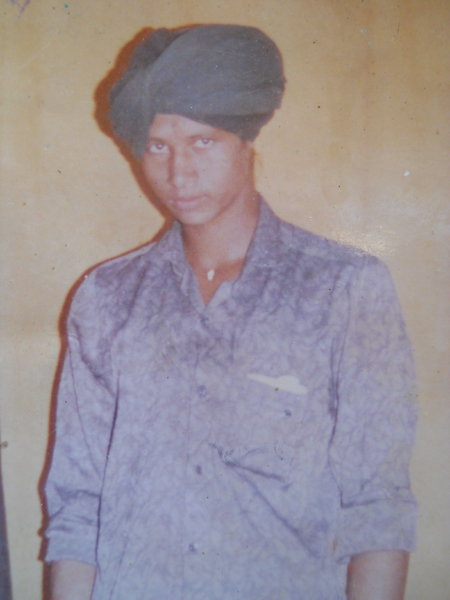 Photo of Jagtar Singh, victim of extrajudicial execution between August 8, 1990 and August 4,  1991, in Jhabal Kalan, by Punjab Police