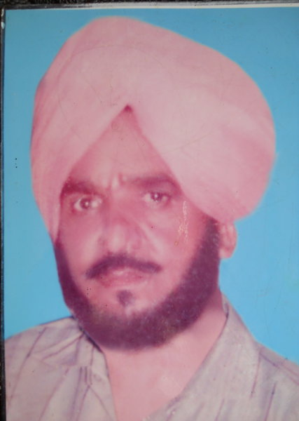 Photo of Balbir Singh, victim of extrajudicial execution between March 15, 1992 and March 17,  1992, in Amritsar, by Punjab Police; Central Reserve Police Force