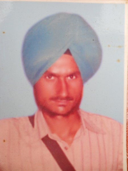 Photo of Narinder Singh, victim of extrajudicial execution between June 18, 1991 and June 25,  1991