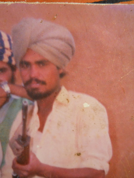 Photo of Sukhdev Singh, victim of extrajudicial execution between August 10, 1993 and August 15,  1993, in Verowal, by Punjab Police