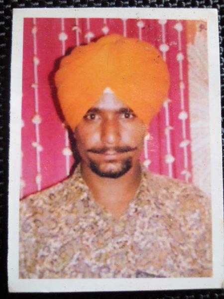 Photo of Sukhwinder Singh, victim of extrajudicial execution on July 11, 1993, in Sarhali Kalan, by Punjab Police