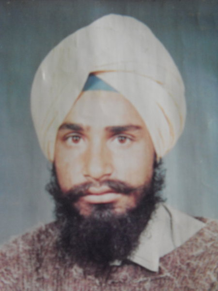 Photo of Harjinder Singh, victim of extrajudicial execution between February 13, 1993 and February 16,  1993Unknown type of security forces