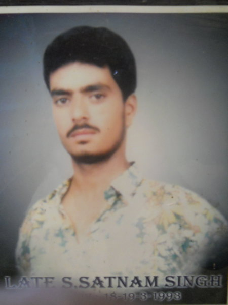 Photo of Satnam Singh, victim of extrajudicial execution on March 18, 1993, in Rayya, by Punjab Police