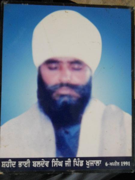 Photo of Baldev Singh, victim of extrajudicial execution between April 5, 1991 and April 6,  1991, in Gurdaspur, Batala, by Punjab Police