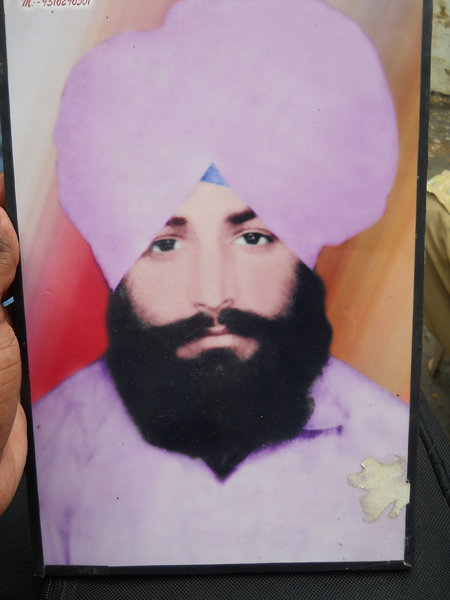Photo of Sukhdev Singh, victim of extrajudicial execution on October 25, 1989, in Mehta, by Punjab Police