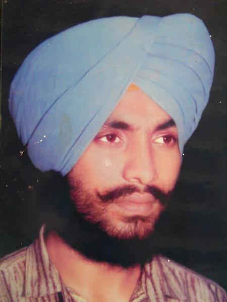 Photo of Jagtar Singh, victim of extrajudicial execution between October 15, 1993 and October 16,  1993, in Tarn Taran, by Punjab Police