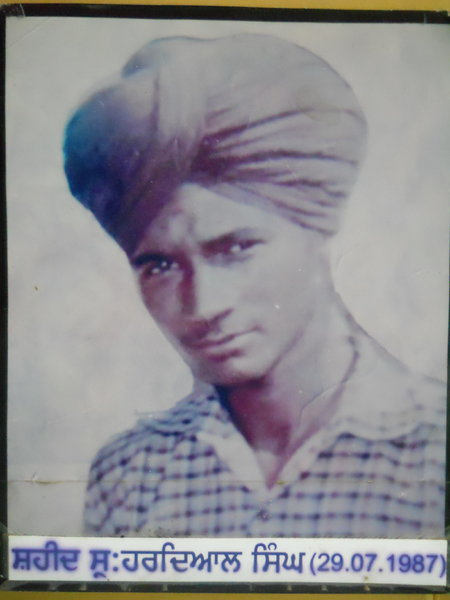 Photo of Hardyal Singh, victim of extrajudicial execution on July 29, 1987, in Mehta, by Punjab Police