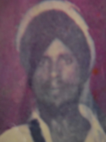Photo of Ranjit Singh, victim of extrajudicial execution on July 29, 1987, in Mehta, by Punjab Police; Central Reserve Police Force
