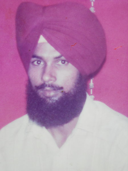 Photo of Raghbir Singh, victim of extrajudicial execution on March 04, 1993, in Chogawan, by Punjab Police; Central Reserve Police Force