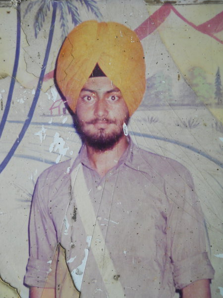 Photo of Rana Partap Singh, victim of extrajudicial execution between May 21, 1987 and May 22,  1987, in Baba Bakala, by Punjab Police