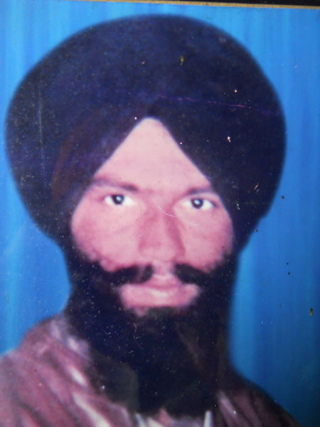 Photo of Gurmeet Singh, victim of extrajudicial execution on August 12, 1987, in Mehta, by Punjab Police