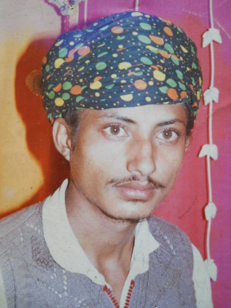 Photo of Balwinder Singh, victim of extrajudicial execution between August 1, 1993 and August 2,  1993, in Mehta, by Punjab Police