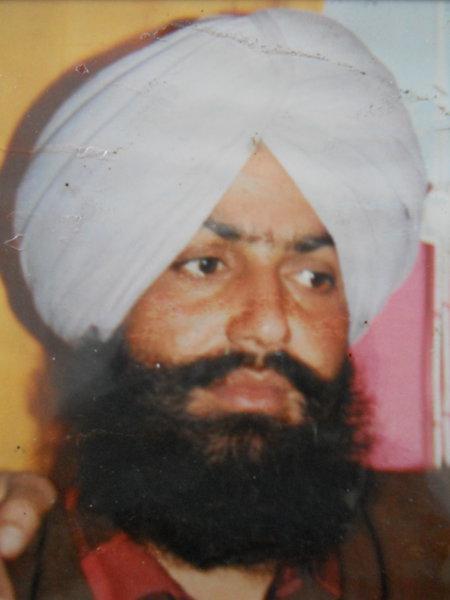 Photo of Manjit Singh, victim of extrajudicial execution on November 15, 1992, in Khalchian, by Punjab Police