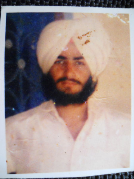 Photo of Amarjit Singh, victim of extrajudicial execution on October 07, 1989, in Mattewal, by Punjab Police
