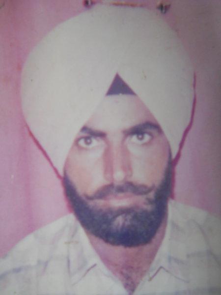 Photo of Palwinder Singh, victim of extrajudicial execution between September 21, 1992 and September 23,  1992, in Amritsar Mal Mandi Interrogation Center, by Punjab Police