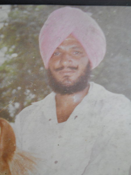 Photo of Kashmir Singh, victim of extrajudicial execution between September 12, 1990 and September 20,  1990, in Saidpur BSF Post, Lopoke,  by Punjab Police; Border Security Force, in Saidpur BSF Post, Lopoke, by Punjab Police; Border Security Force