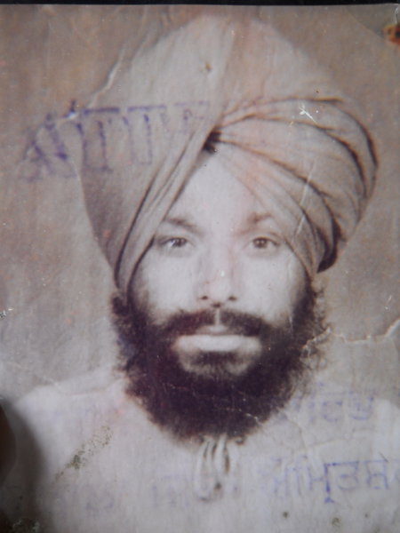 Photo of Surta Singh, victim of extrajudicial execution on November 20, 1991, in Gaggo Mahal, by Punjab Police