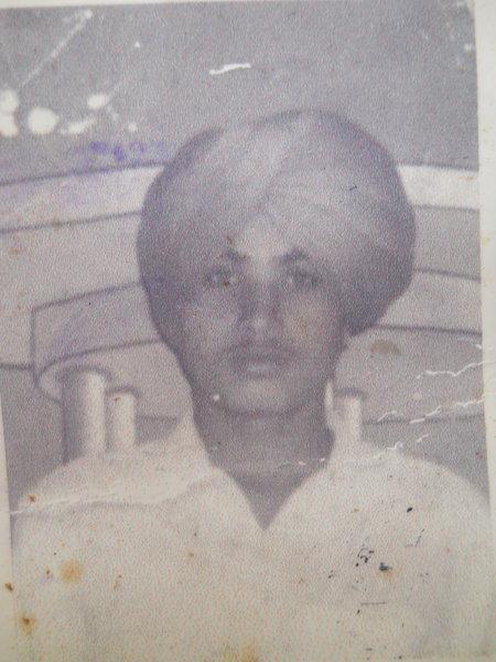 Photo of Balwant Singh, victim of extrajudicial execution between September 15, 1992 and October 15,  1992, in Jhabal Kalan, by Punjab Police