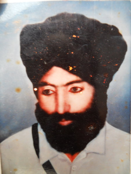 Photo of Achar Singh, victim of extrajudicial execution on July 21, 1984, in Khalra, by Punjab Police