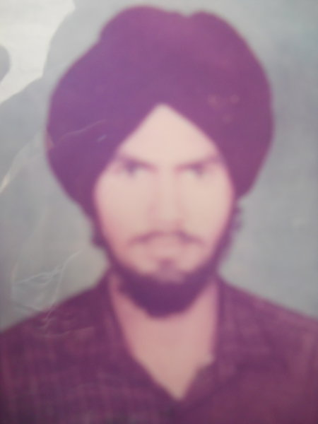 Photo of Manjinder Singh, victim of extrajudicial execution on May 21, 1987, in Ajnala, by Punjab Police