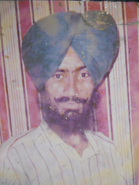 Photo of Rajinder Singh, victim of extrajudicial execution between October 11, 1991 and October 12,  1991, in Amritsar, by Punjab Police