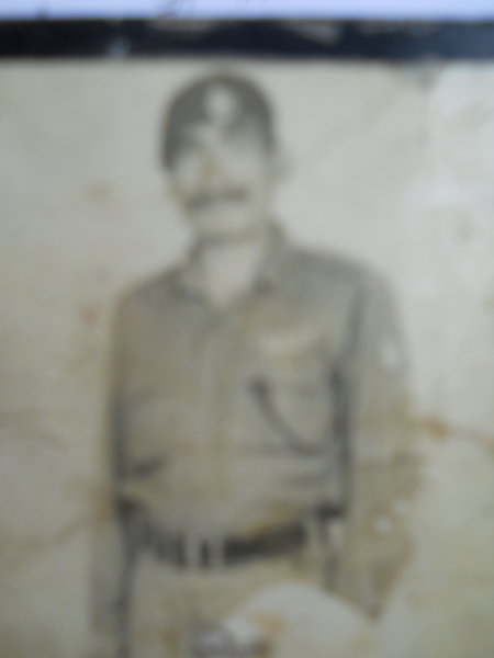 Photo of Roshan Lal, victim of extrajudicial execution on August 27, 1986, in Qadian 54th Battalion BSF Camp,  by Punjab Police; Border Security Force, in Qadian, by Border Security Force