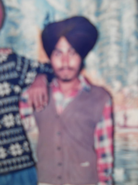 Photo of Harjit Singh, victim of extrajudicial execution between November 20, 1988 and November 25,  1988, in Mehta, by Punjab Police