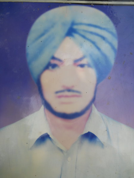 Photo of Surjit Singh, victim of extrajudicial execution between March 4, 1988 and March 6,  1988, in Jandiala,  by Punjab Police; Central Reserve Police Force, in Jandiala, by Punjab Police