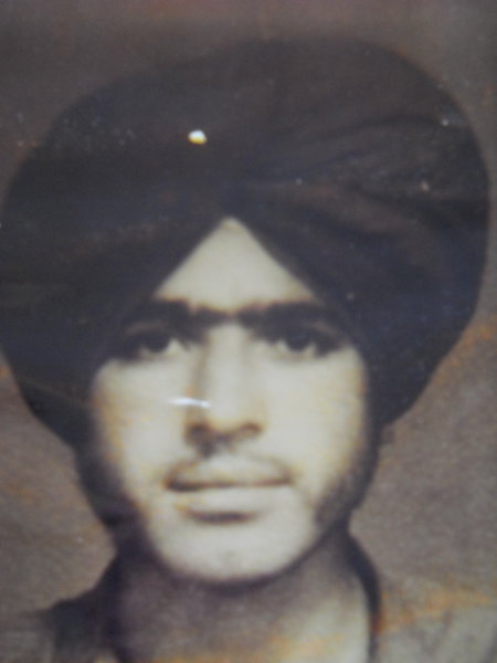 Photo of Tehal Singh, victim of extrajudicial execution between June 1, 1993 and June 30,  1993, in Bhikhiwind, by Punjab Police