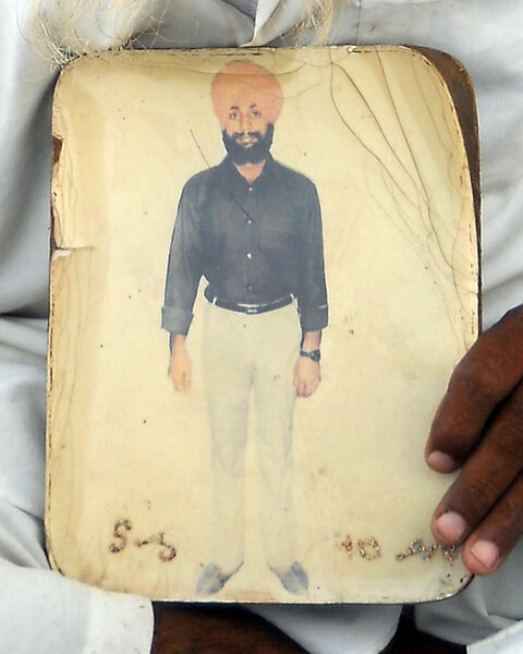Photo of Sakatar Singh, victim of extrajudicial execution on May 16, 1988, in Jandiala,  by Punjab Police; Central Reserve Police Force, in Jandiala, by Punjab Police; Central Reserve Police Force