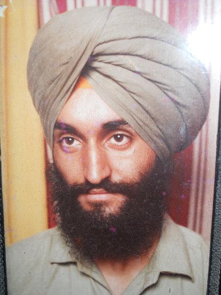 Photo of Kanwarjit Singh, victim of extrajudicial execution on October 18, 1989, in Jalandhar, by Punjab Police