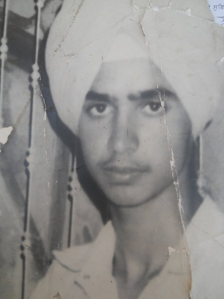 Photo of Harjit Singh, victim of extrajudicial execution on July 7, 1992, in Verowal, by Punjab Police