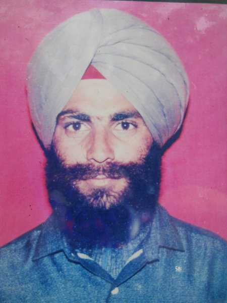 Photo of Sarwan Singh, victim of extrajudicial execution on May 22, 1990, in Khalra, by Punjab Police