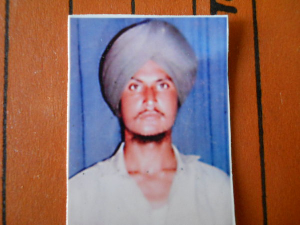 Photo of Shamsher Singh, victim of extrajudicial execution on May 02, 1991, in Patti, by Punjab Police
