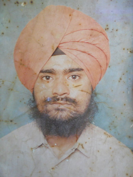Photo of Jagir Singh, victim of extrajudicial execution between August 10, 1993 and September 20,  1994, in Patti, by Punjab Police