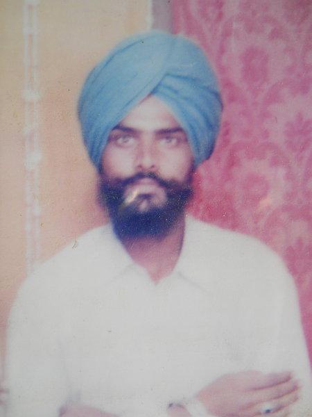 Photo of Sarmukh Singh, victim of extrajudicial execution on September 06, 1992, in Jhabal Kalan, by Punjab Police