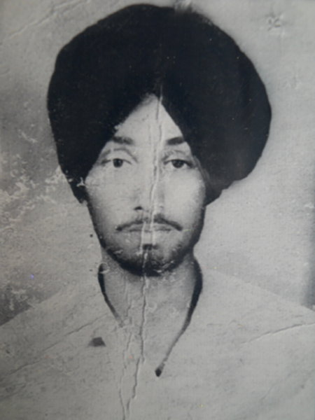 Photo of Sukhwant Singh, victim of extrajudicial execution between April 1, 1991 and April 4,  1991, in Tarn Taran,  by Punjab Police; Central Reserve Police Force, in Tarn Taran, by Punjab Police